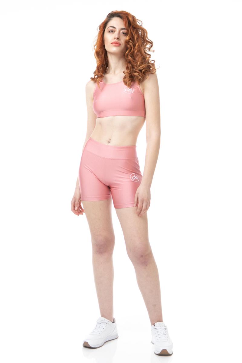 Dansport Ελαστικό Σορτς High Waist   7039-Pink
