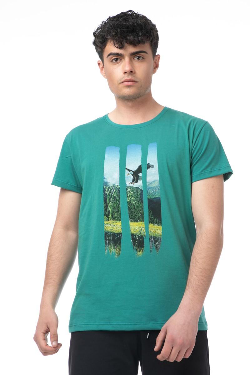 Ανδρικό T-shirt Με Τύπωμα